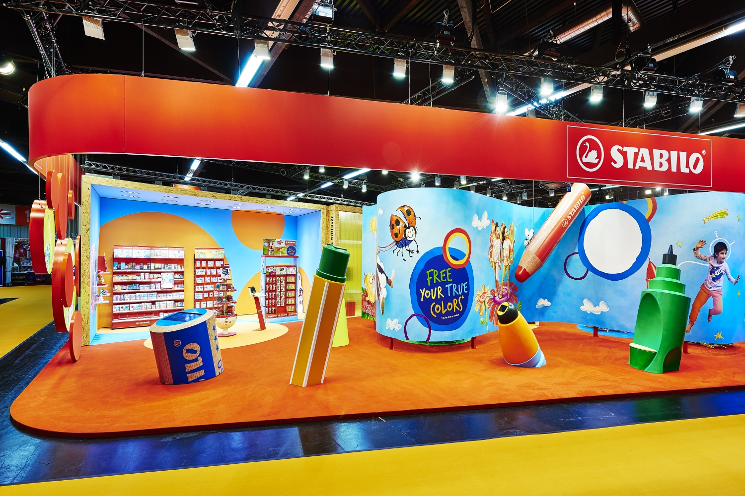 Stabilo Booth at toy fair Nuremberg